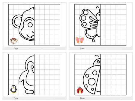 Symmetrisch beeld - werkblad voor het onderwijs