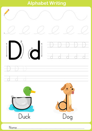 writing lines: Alphabet A-Z Tracing Worksheet,  Exercises for kids -  illustration and vector outline - A4 paper ready to print