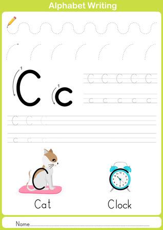 Alphabet AZ Tracing Arbeitsblatt, Übungen Für Kinder ...