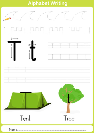 preschool: Alphabet A-Z Tracing Worksheet,  Exercises for kids -  illustration and vector outline - A4 paper ready to print