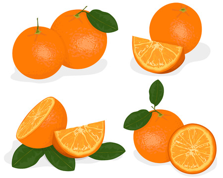 oranges: Orange fruit isolated on white background