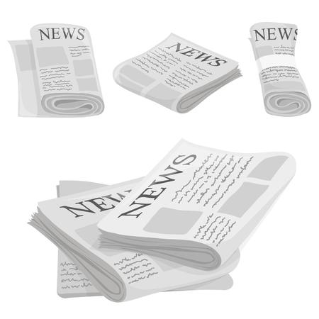 Ikony wektor z gazety i obrazu typu makieta Ilustracje wektorowe