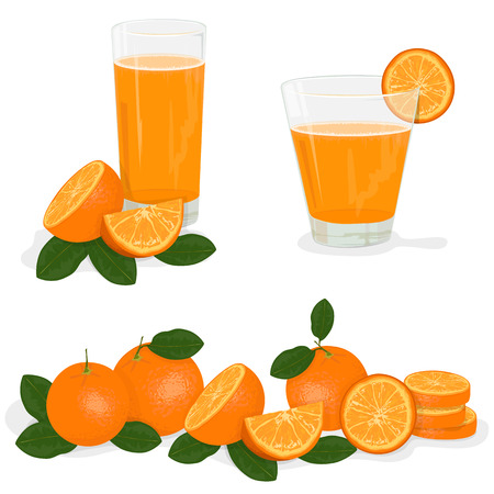 orange juice glass: Fresh orange and glass with juice,  Splashing.