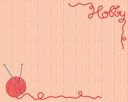 Hintergrund aus einem Garn, Stricken Materialien Vektorgrafik