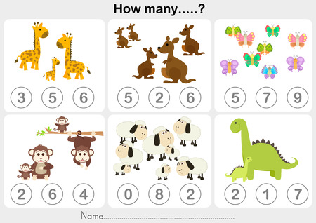Counting object for kids - Education worksheet