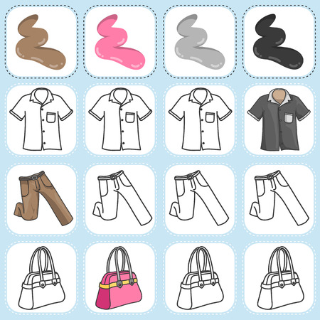 habiliment: Paint the clothing as assigned - Worksheet for education
