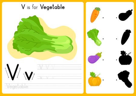 tracing: Alphabet A-Z Tracing and puzzle Worksheet,  Exercises for kids - illustration and vector - A4 paper ready to print Illustration