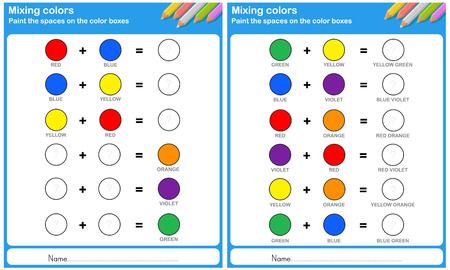Mélange de couleur - peindre l'espace sur la roue des couleurs