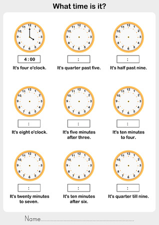 clockwise: Telling time worksheet. write the clockwise and time on the clock