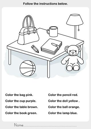 Encuentre Formas Y Colores - Hoja De Trabajo Para La Educación ...