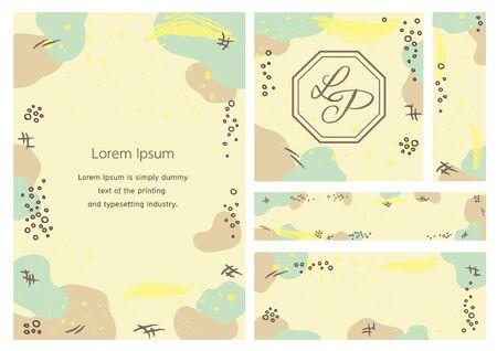 Memphis design background vector template - Colorful theme