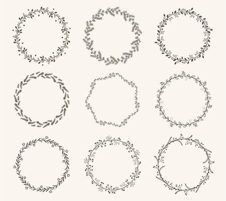 Vector conjunto de marco de círculo de borde