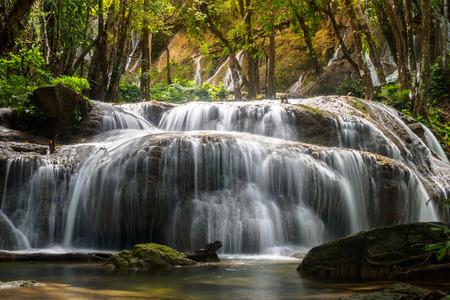 gill: waterfall phatad in kanchanaburi, thailand