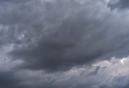 Dark sky before rain in the rainy season in the city center