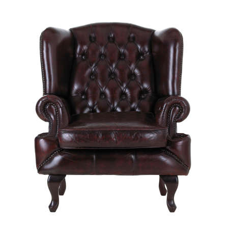 arm chairs: Leather armchair