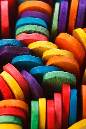 helados con palito: madera colorida helado palo Foto de archivo
