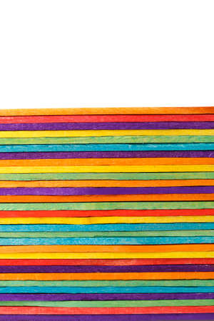 ice cream stick: madera colorida helado palo Foto de archivo