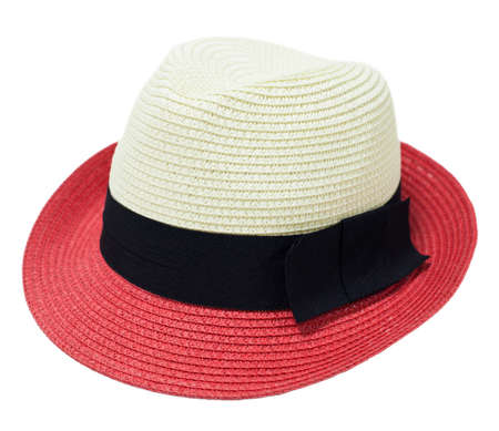 two tone: Two tone woman hat on white background