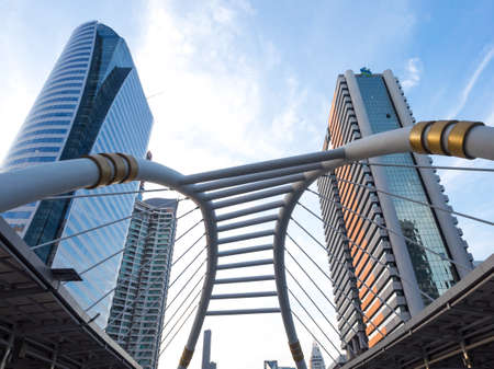 significant: Chong Nonsi Skywalk, the center of significant business areas in Bangkok, Thailand. Editorial