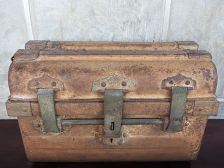 coffer: Old antique coffer