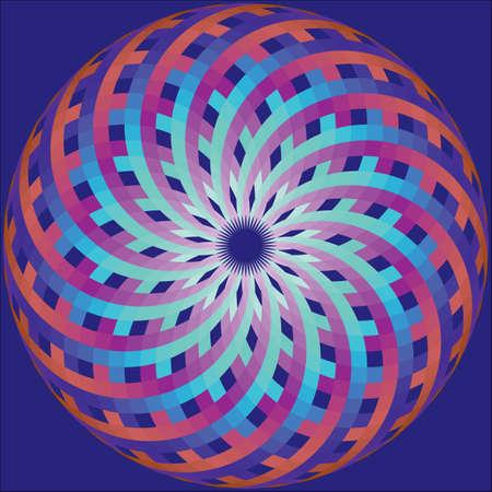 mollusk: geometric ornament like stylized shell of mollusk