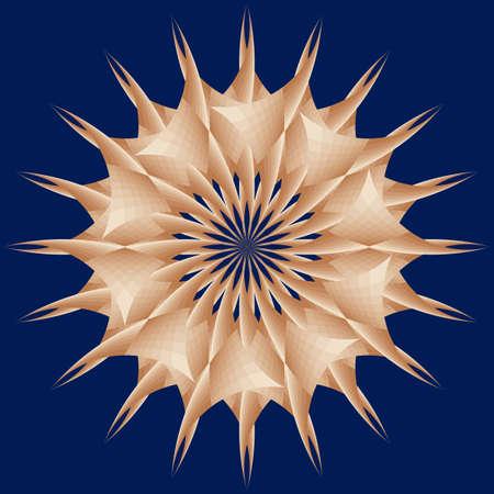 Estrella decorativa como erizo estilizado en el mar
