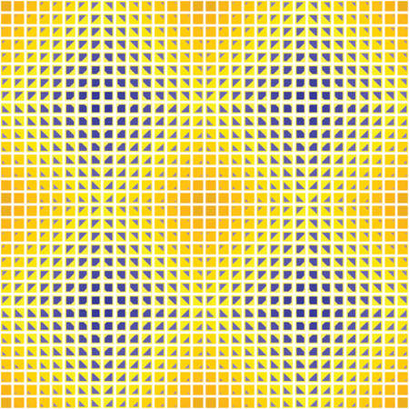 chamfer: yellow blue optical diamond Illustration