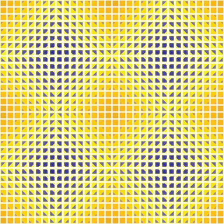 chamfer: yellow blue optical diamond Illustration