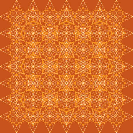 offset angle: geometric ornament from orange diamonds Illustration