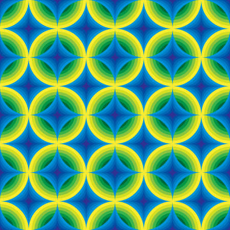 volumetric: Colored volumetric ornament from circles Illustration