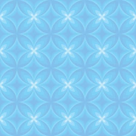 cusp: Light blue round ornament from diamonds and stylized flowers Illustration