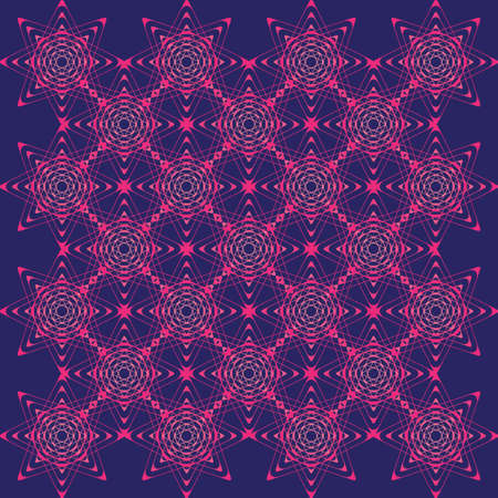 offset angle: purple geometric ornament from stars