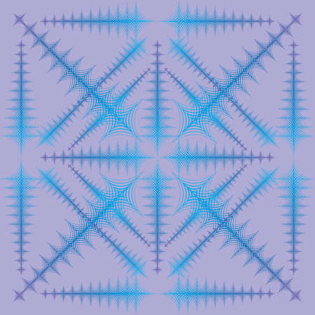 offset angle: blue ornament like snowflake Illustration