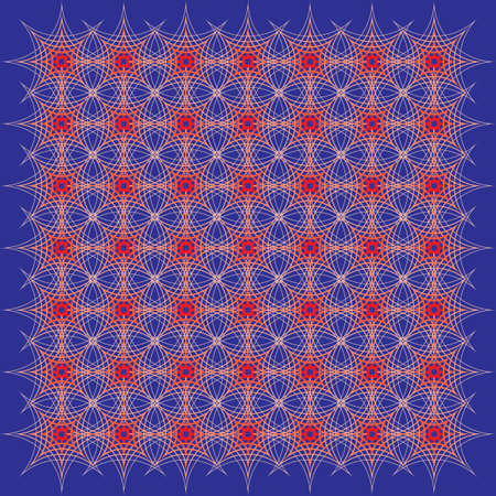 offset angle: red lattice on blue background Illustration