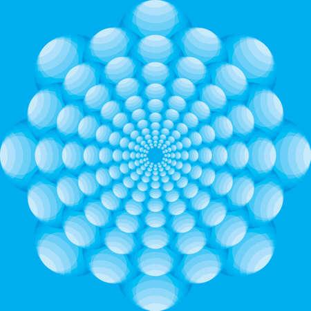 volumetric: copo de nieve volum�trica ronda de burbujas