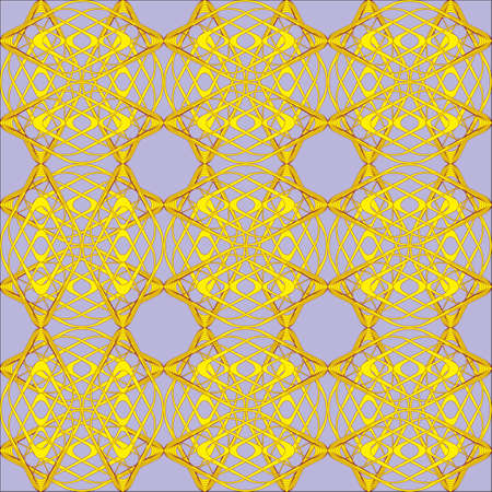 lattice: yellow ornament from wire lattice