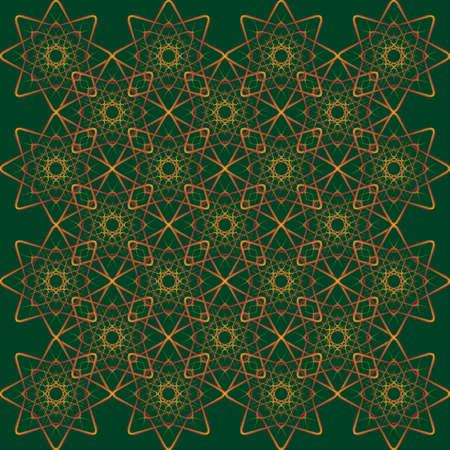 offset angle: brown line ornament like decorative napkin