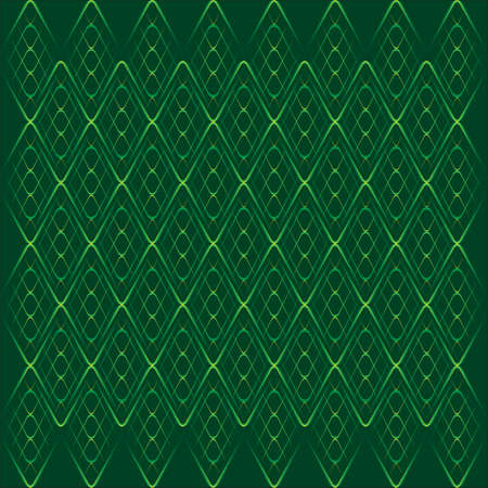 curvature: green thin grid on dark background Illustration