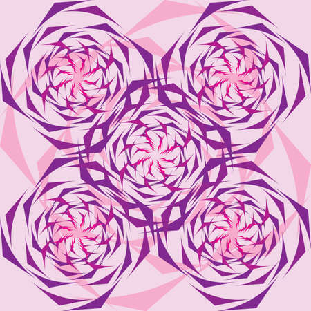 duplication: ornament from lines like stylized flower Illustration