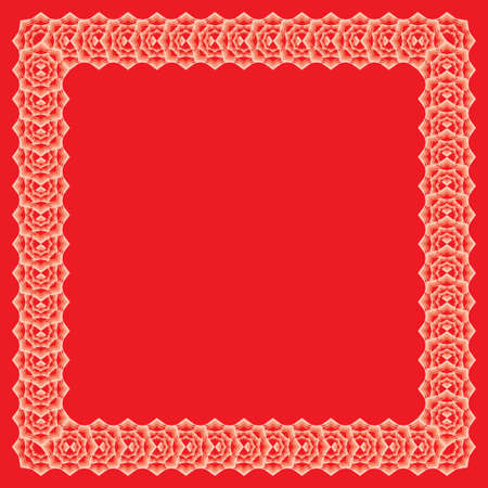 offset angle: ornamental border from color polygons