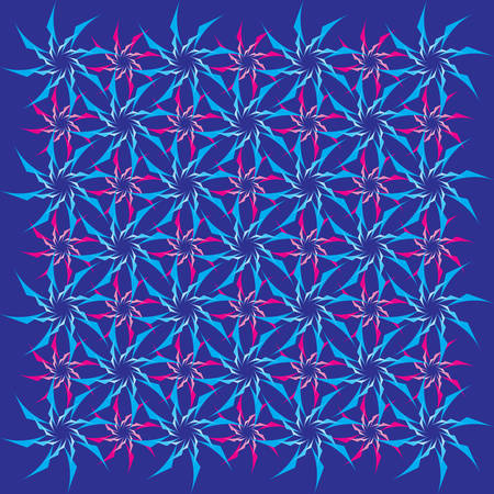 offset angle: color grid from stylized floral ornament