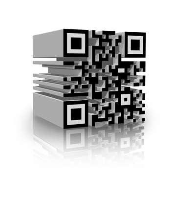 scaner: illustration of a tridimensional barcode