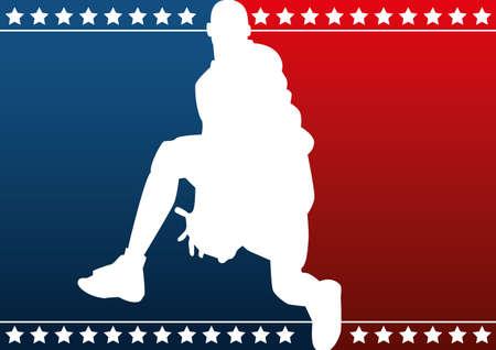 dunk: Basketball silhouette