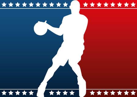 basket: Pallacanestro silhouette Vettoriali