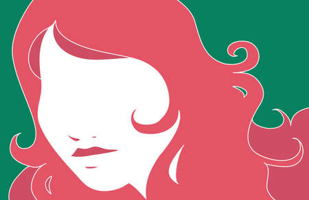 stylized portrait of a woman Vector