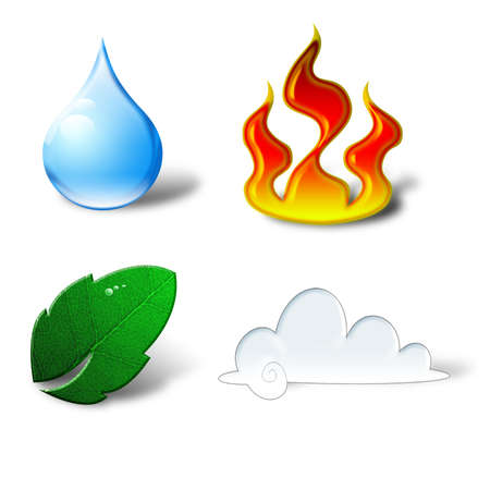 icons for natural elements Stock Photo