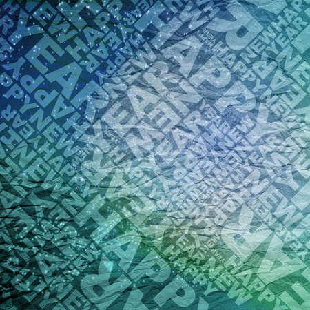Happy new year typographic texture