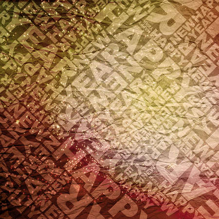 Happy new year typographic texture Stock Photo - 11765161