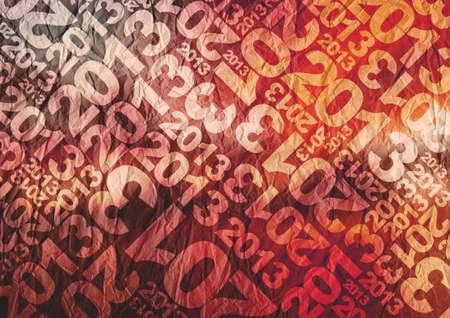2013 themed typographic texture Stock Photo
