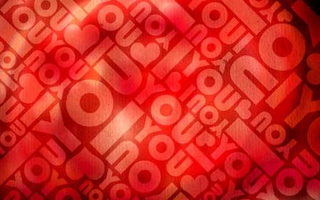 Romantic love typographic texture background Stock Photo